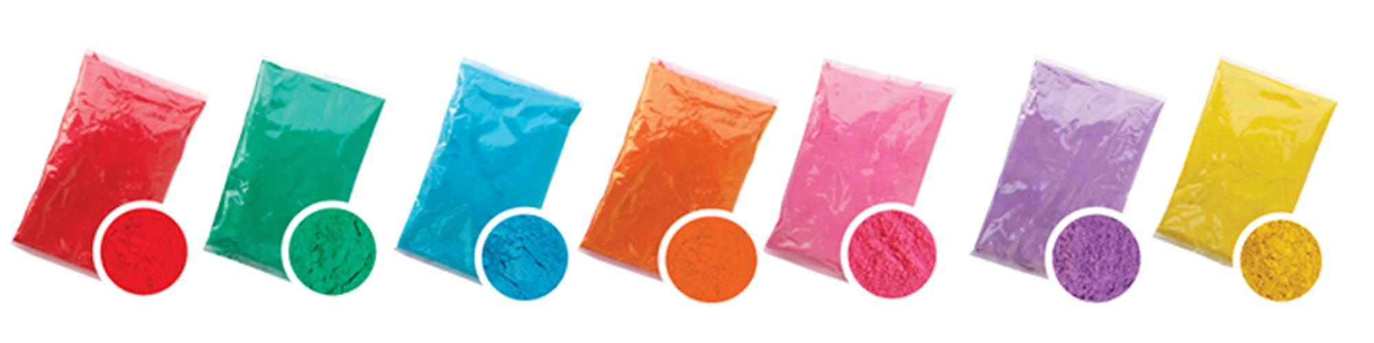 Bolsas saquitos Holi Polvos de Colores