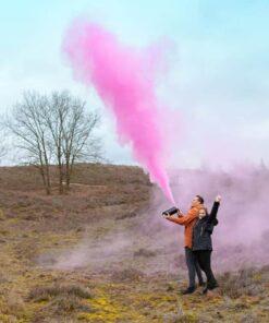 Revelador de género tipo extintor de incendios